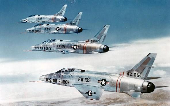 F-100 Super Sabre - 198 combat, 45 non-combat