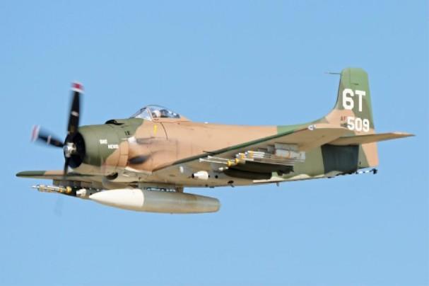 A-1 Skyraider (USAF, USN) - 198 combat, 58 non-combat