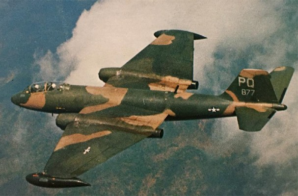 B-57 Canberra (USAF) - 38 combat, 16 non-combat
