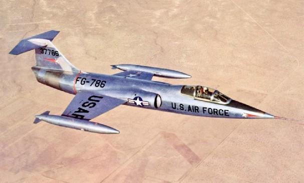 F-104 Starfighter - 9 combat, 5 non-combat