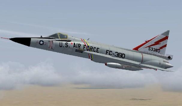 F-102 Delta Dagger - 7 combat, 7 non-combat